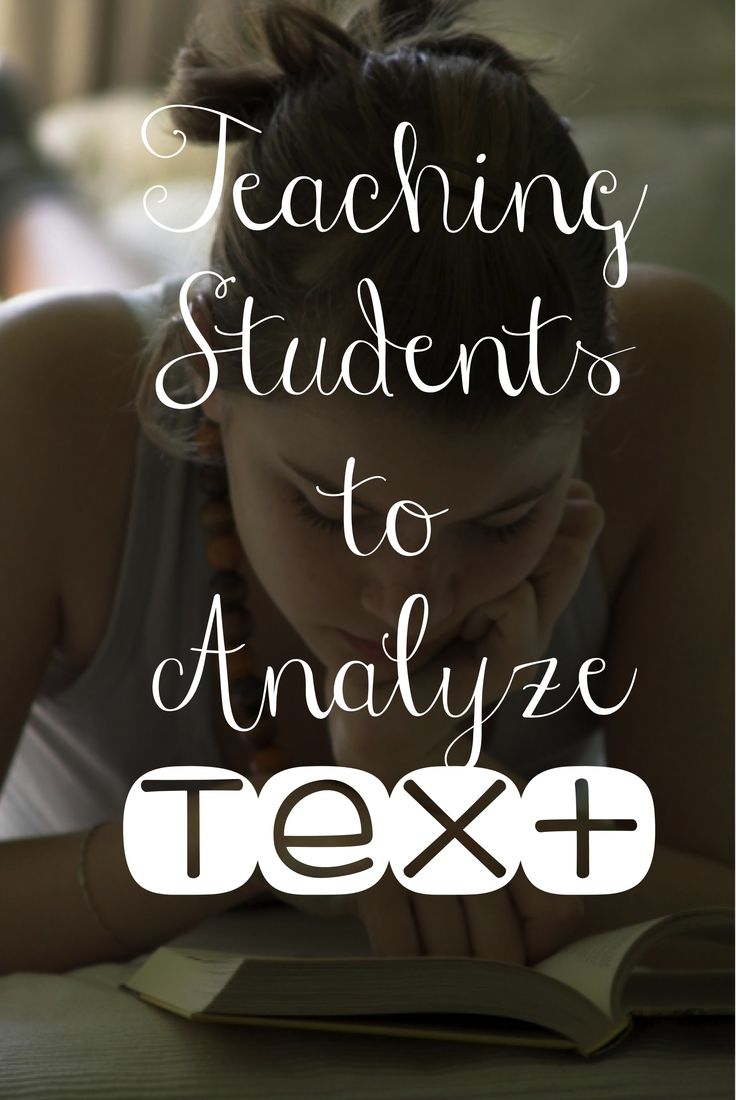 Teach your students how to analyze text--check out some tips on my latest blog post! Room 213
