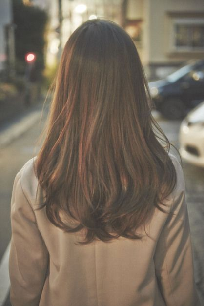 long permed hair More