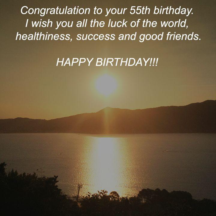 Wondrous 55Th Birthday Wishes Topbirthdaywishes Org Funny Birthday Cards Online Hetedamsfinfo