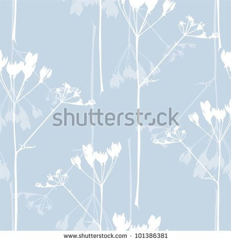 stock vector : elegant seamless pattern with abstract flowers in soft blue colors for your design