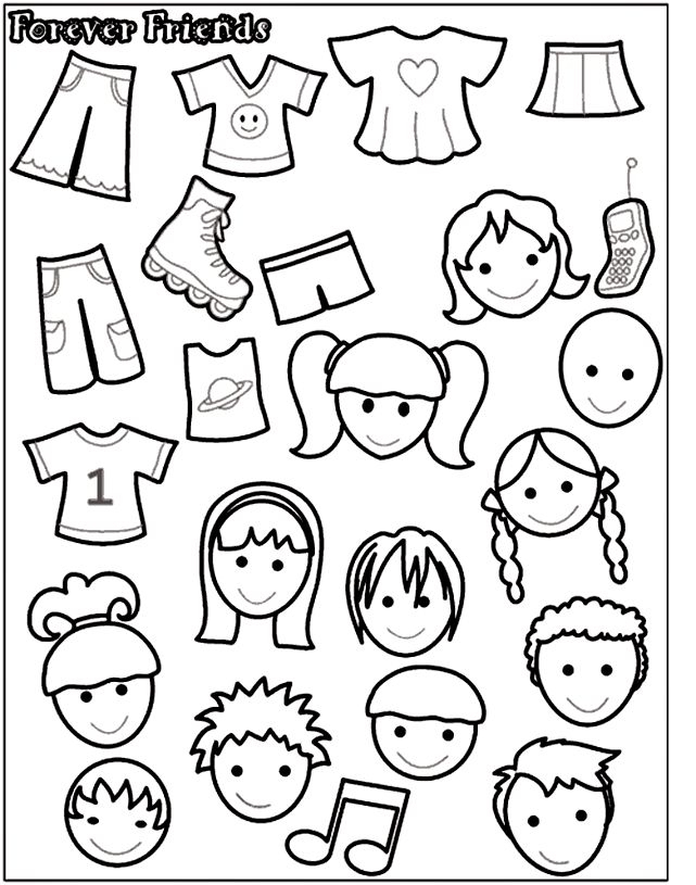 Crayola.com printable - for felt board template
