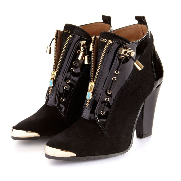 Ironhide Heeled Trainer Style Boots in Suede & Leather   Boots, Shoes & Footwear   CLEO B