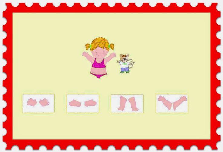 Infantil Mercedarias: señala la parte del cuerpo que falta