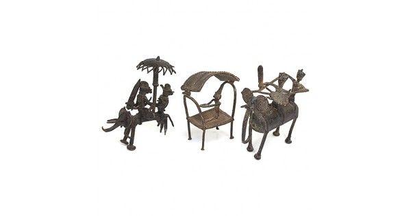 Colecție de trei miniaturi-contragreutăți pentru aur - Mrammuo - Ghana cca 1800