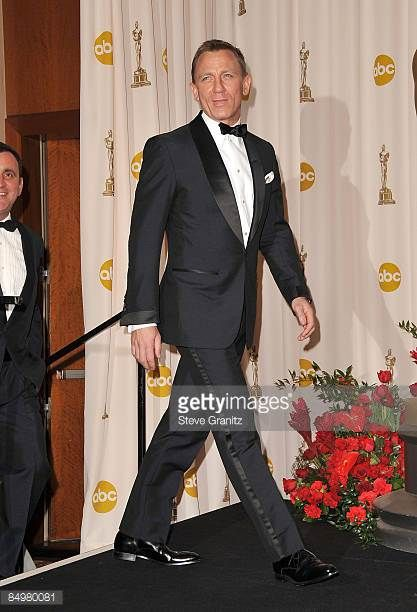 Actor Daniel Craig poses in the 81st Annual Academy Awards press room held at The Kodak Theatre on February 22 2009 in Hollywood California