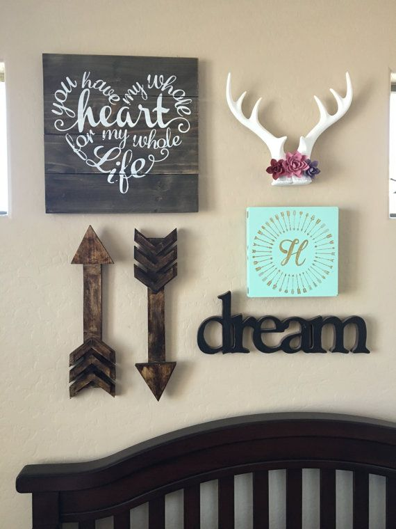 25 best ideas about arrow decor on pinterest arrows for Baby wall decoration ideas