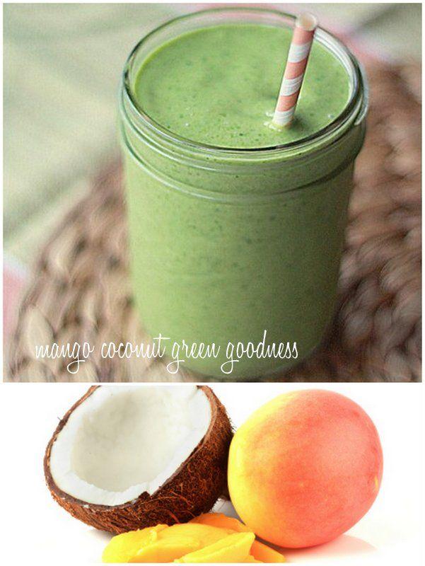 Vegan Green Smoothie: with Coconut & Mango