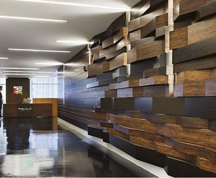 wonderful wooden work in office 12