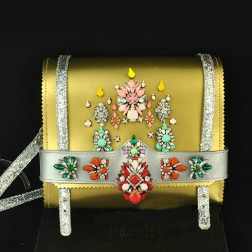 Yellow gold shourouk bag in silver chain Availability: In Stock $99.00 Free Shipping