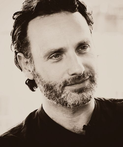Andrew Lincoln. It's always weir to see the cast clean...