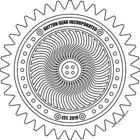 Get your button gear (coloring page)! | Coloring pages ...