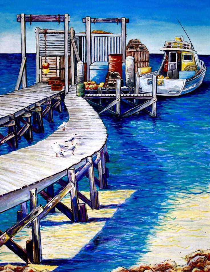 Gouache painting - Abrolhos Islands- Western Australia by Janeen Horne -www.janeenhorneartist.com