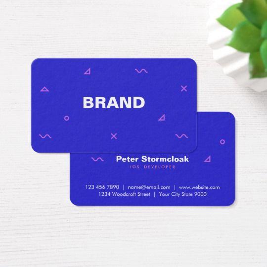Web App Game Developer Business Card Simple Business Cards