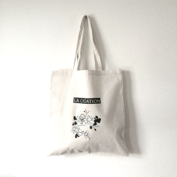 TOTES Cotton Tote Bag  Canvas Shopping bag  Flower by helenfan