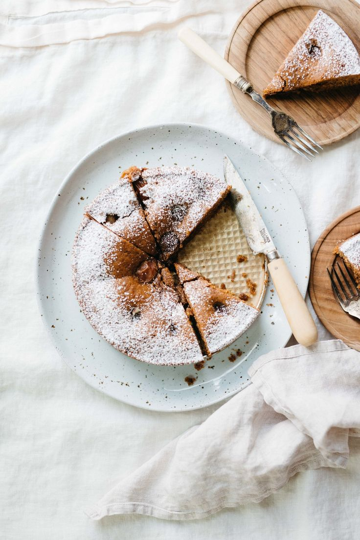 A Simple Plum & Hazelnut Torte | dolly and oatmeal