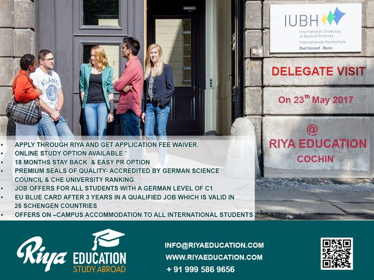 """IUBH, Germany Delegate Visit at Riya Education Cochin on 23rd May 2017. """"Study in the private, state-recognised university of business and management"""" Meet the delegate Mr.Jens Heidorn for Spot Admission. Visit our website http://riyaeducation.com/ #studyingermany #studyabroad"""