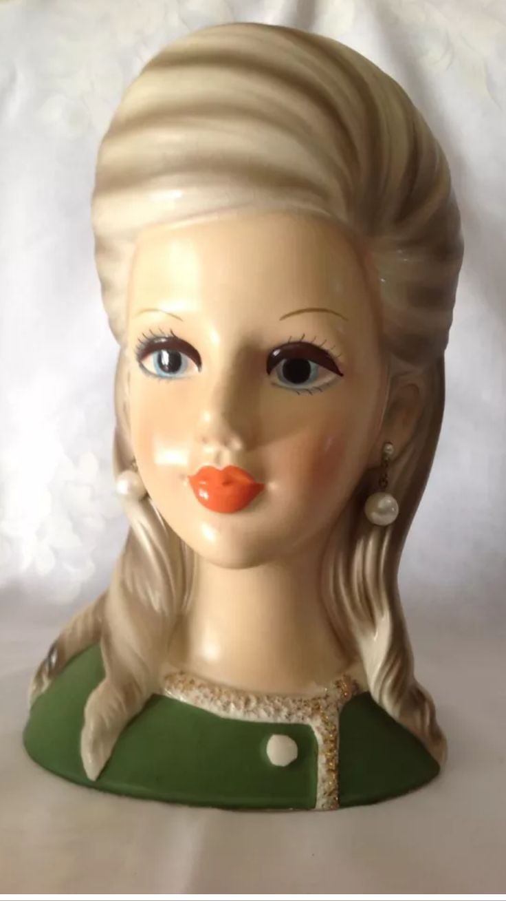 1162 best lady head vases images on pinterest vintage vases high teen lady head vase 85 inches early 60s please follow minkshmink on reviewsmspy
