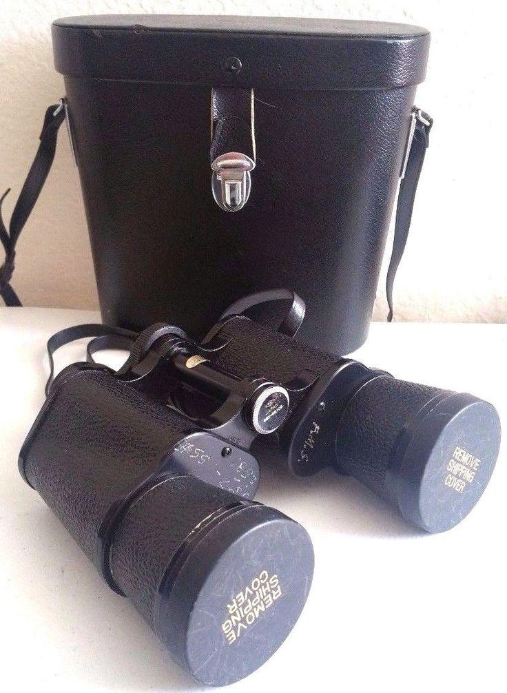 VINTAGE Binoculars 10X50 Coated Precision Optics Field Case See Description