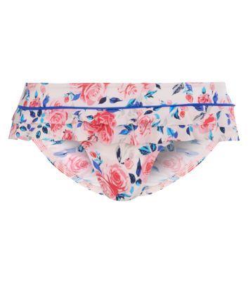 Kelly Brook Pink Rose Bikini Bottoms