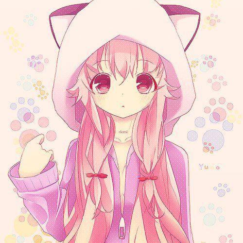 Sentimentos De Uma Otome: Ilustrações: Anime Girl Blue Hair