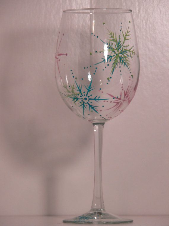 Snowy Days Wine Glass on Etsy, $15.00
