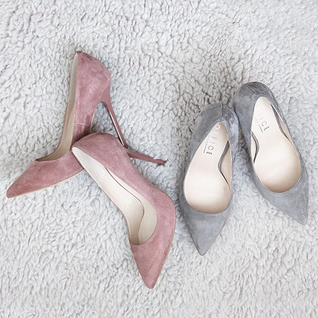 The #heels that dreams are made of! Our On To Point Court Heels in pink & grey suede will be available soon! Watch this space. #comingsoon