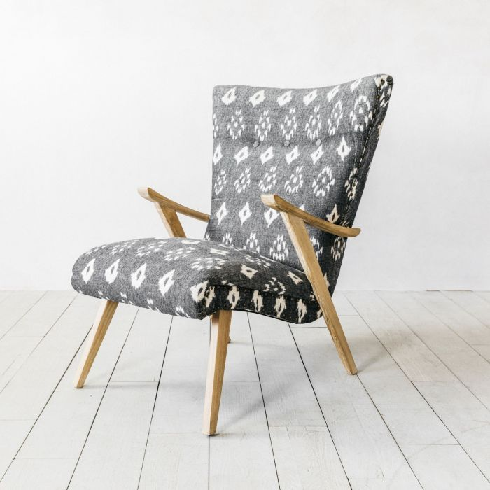 Peachy Rumi Black And White Ikat Armchair Tips And Ideas In 2019 Lamtechconsult Wood Chair Design Ideas Lamtechconsultcom