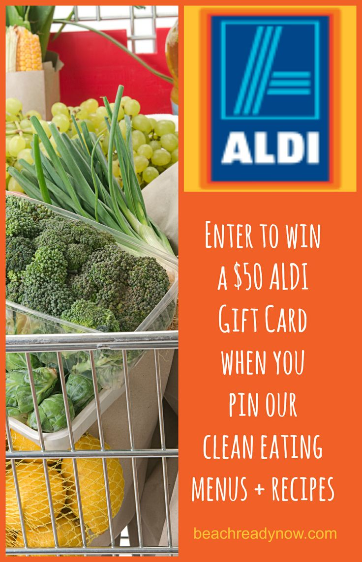 Enter to win a $50 ALDI gift card when you pin our frugal clean eating recipes and menu plans #ALDI #CleanEating #EatClean
