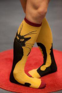 Chat Noir Socks: Chat Socks, Cats Cats, Black Cats, Socks Cats, Crazy Cat, Crazy Sock, Cat Socks, Kitty Socks, Cat Lady