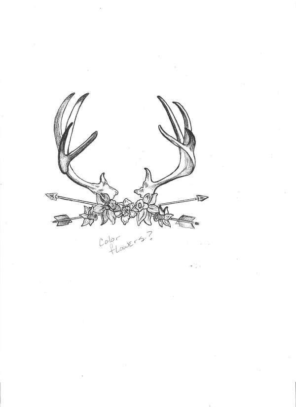 tribal deer tatoos | Deer Rack Tattoos Mirrors And Plaques Can Mount Any Racks