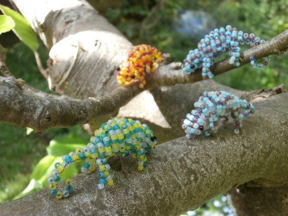 Beaded Chameleon by JacksonsBeadwork on Etsy