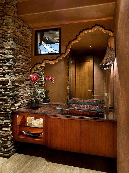 Best Bathroom Design Powder Bath Images On Pinterest - Bathroom mirror 48 inch wide for bathroom decor ideas