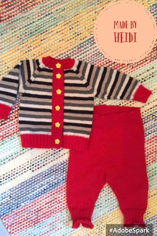 Vauvan neulesetti / Knitted set for a baby DIY