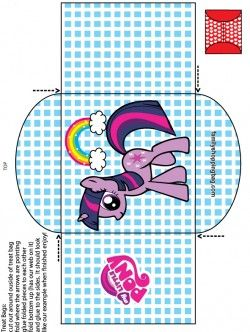 {free} printable My Little Pony Candy Bag 3 Favor Box
