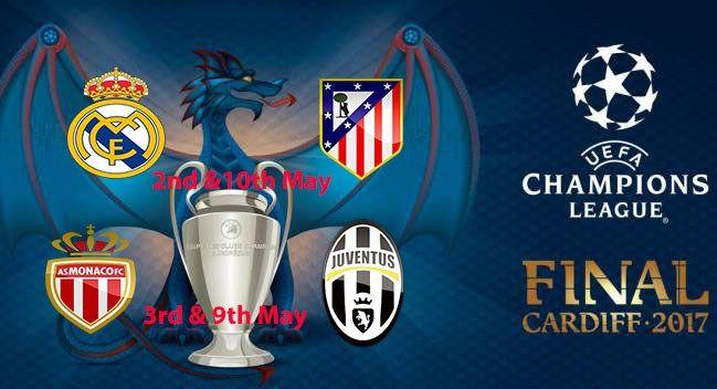 Uefa Champions League semifinals draw: Real Madrid vs Atletico Madrid and Monaco vs Juventus