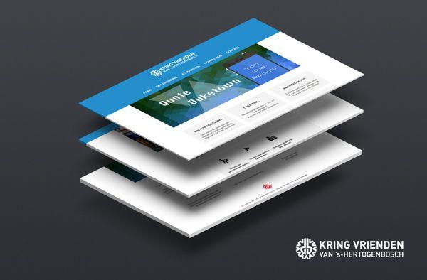 Kring Vrienden | Responsive Webdesign by Boudewijn Naaijkens & Nikki van Dam, via Behance