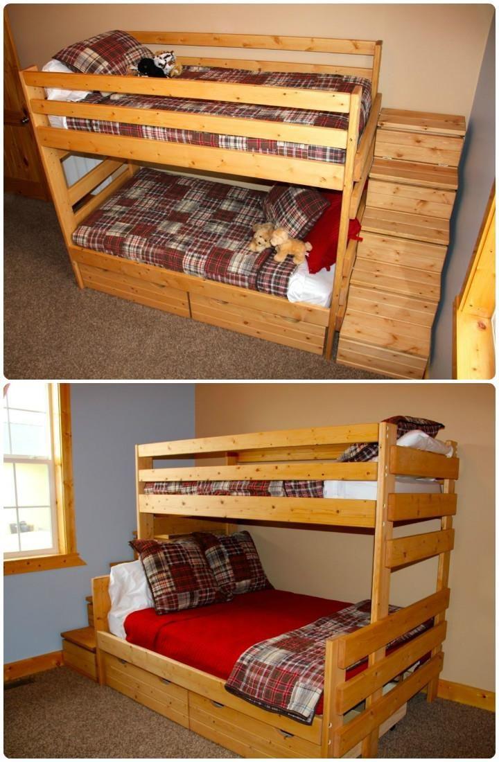 Pallet Toddler Bunk Bed