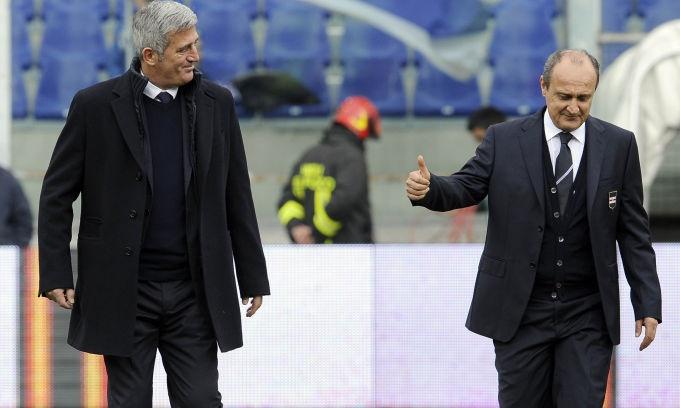 La Lazio e Samp - Petkovic e Delio Rossi.