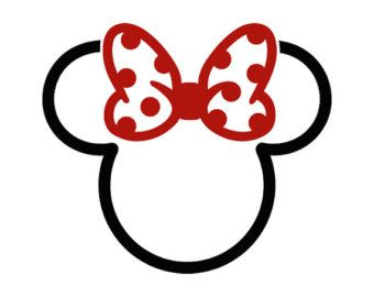 Mickey Mouse / Two Color Tribal Tattoo Image / Disney Cartoon Minnie / Custom…