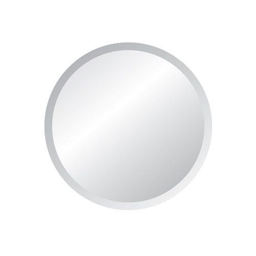 Regency 24-Inch Round Beveled Edge Mirror