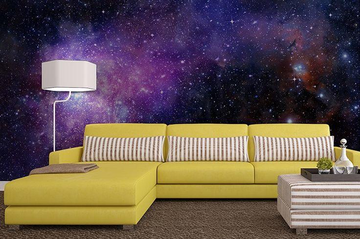 Galaxy Wallpaper By Fototapeta4u Pl Galaxy Decor Bedroom Decor Design Space Themed Bedroom