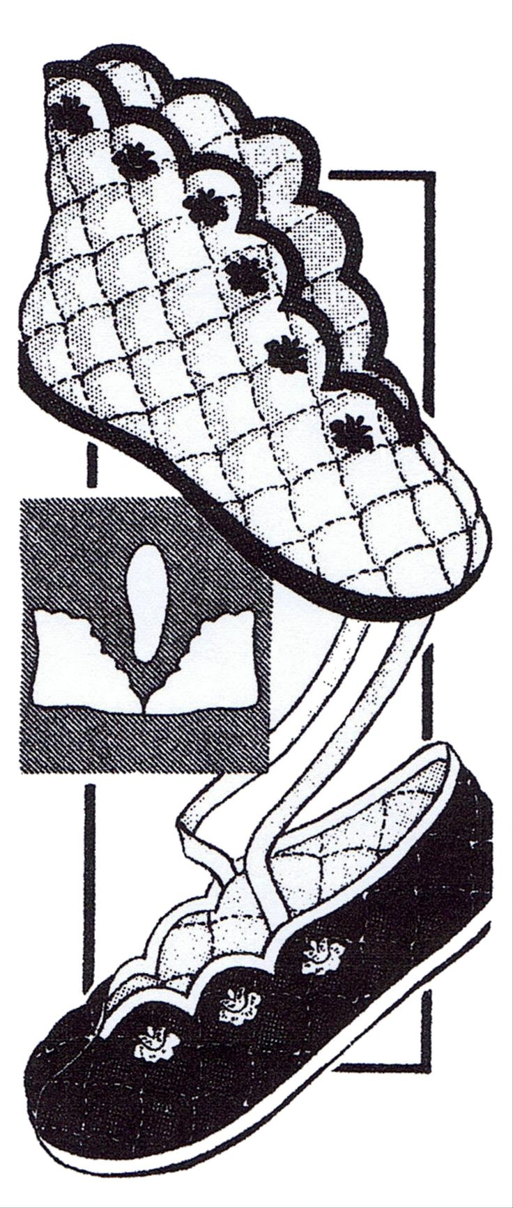 Pattern Peddler: 7049 Vintage 1940's Cozy Womans QUILTED BOOT or BALLET SLIPPERS Fabric Sewing Pattern