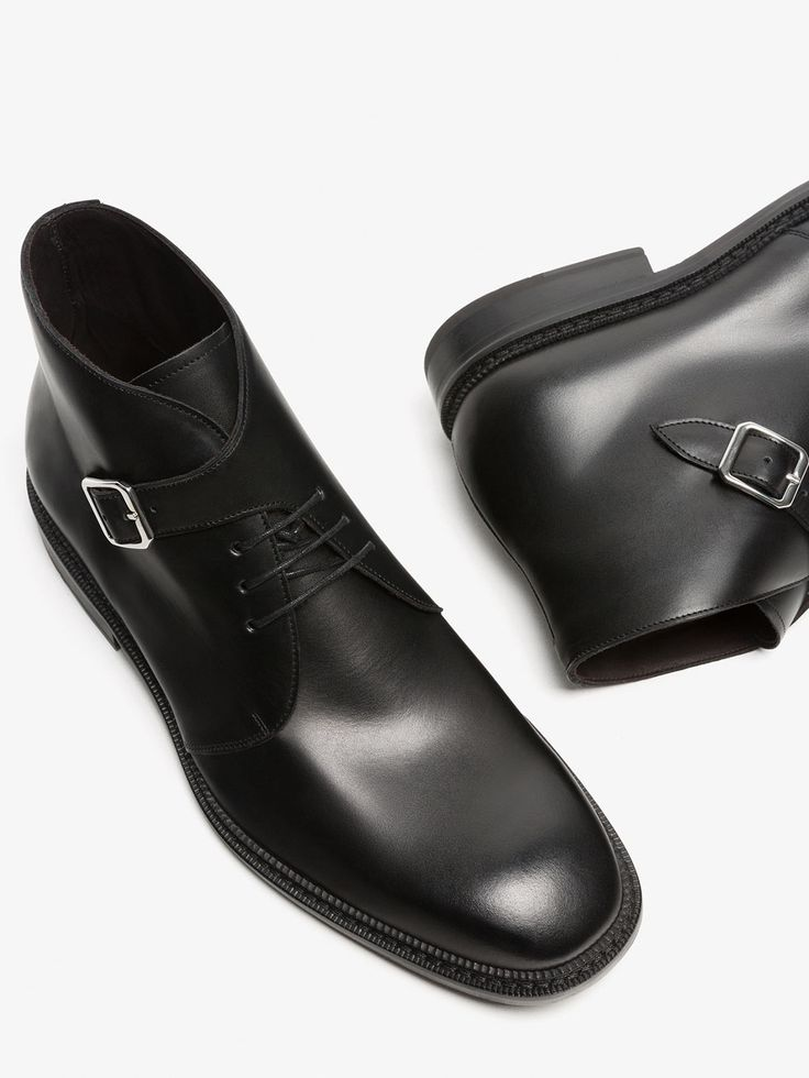 BOTIM DE PELE COM FIVELA LIMITED EDITION de HOMEM - Sapatos - Ver tudo da Massimo Dutti de outono inverno 2017 por 149. Elegância natural!