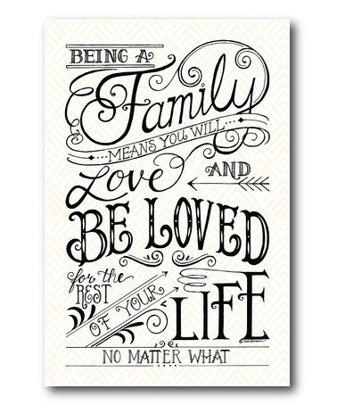 Loving this 'No Matter What' Wrapped Canvas on #zulily! #zulilyfinds
