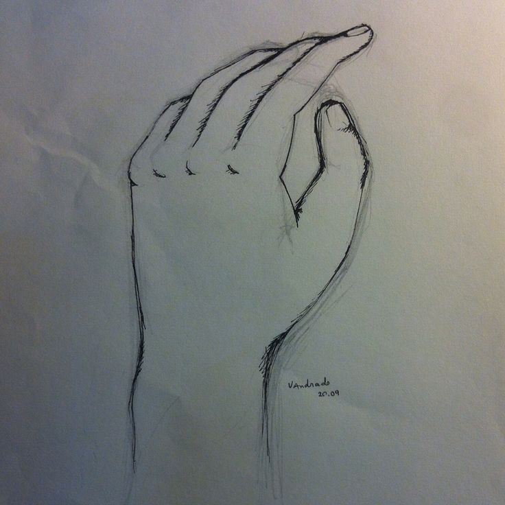 Sketching my left (dominant) hand