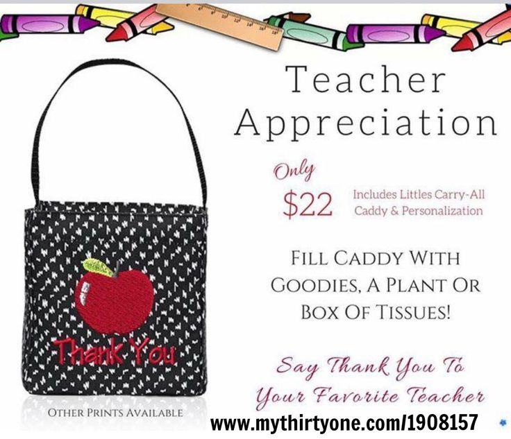 So many cute & practical items for Teachers💕 10% off for Teachers at www.mythirtyone.com/1908157 - Message me on FACEBOOK (Sheena Chadderton) to place your order & receive your discount