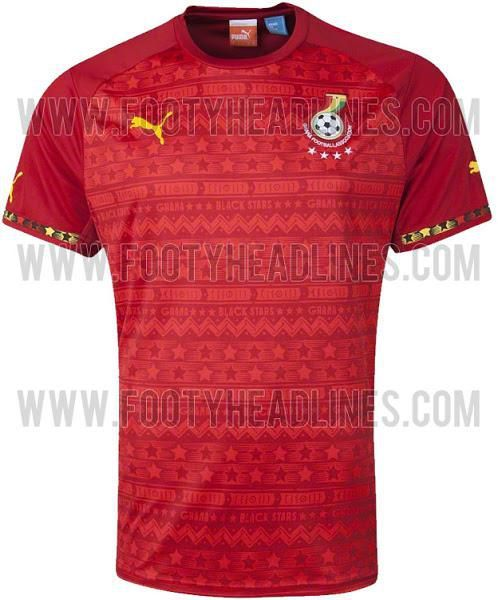 A uniquely designed Ghana away jersey for the 2014 World Cup has been leaked showing the Black Stars maintaining the Ghanaian culture in its apparel for the global competition, GHANAsoccernet.com can reveal.