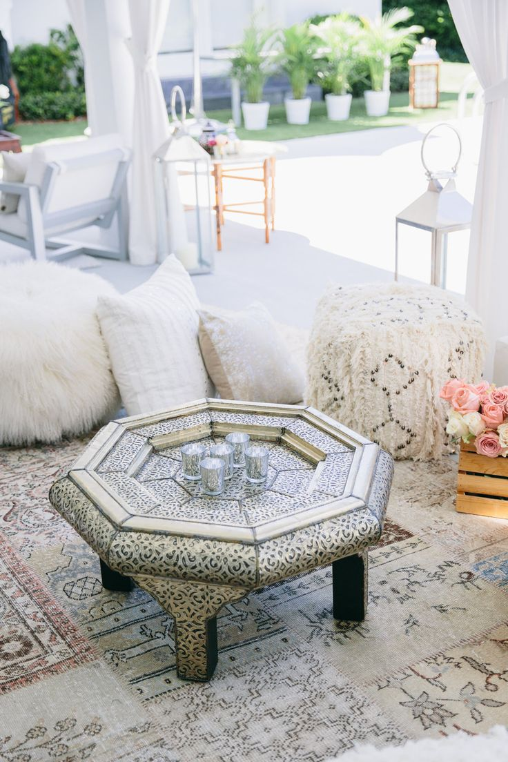 Moroccan inspired party setting