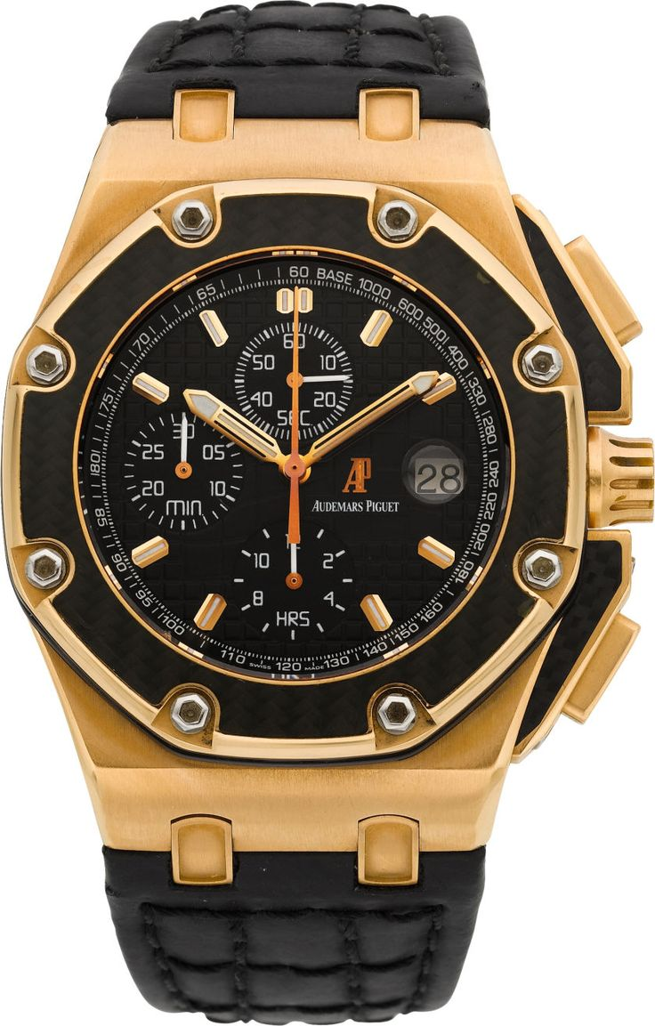 Timepieces:Wristwatch, Audemars Piguet Rare Limited Edition Rose Gold Juan Pablo MontoyaRoyal Oak Offshore No. 314/500. ... Image #1
