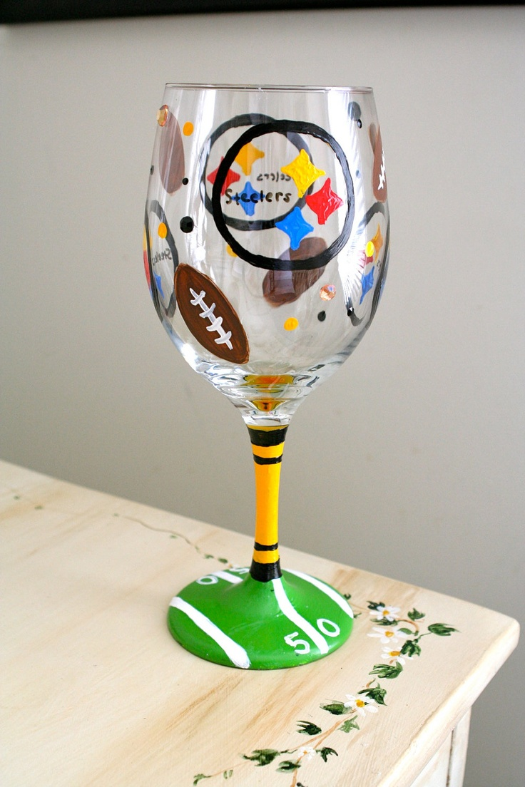 Best 25 steelers ravens ideas on pinterest steelers for Cool wine glass designs